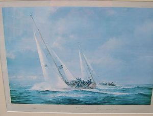 Robert Taylor Morning Cloud 'The Admiral's Cup 1971' - Edward Heath signed - SOLD